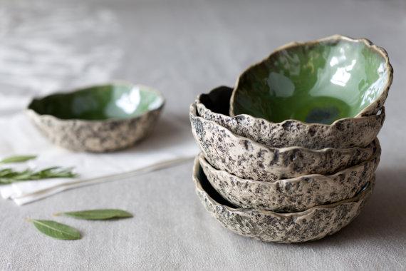Set of 2 ceramic soup bowls pottery ramen bowl handmade muesli bowl stoneware
