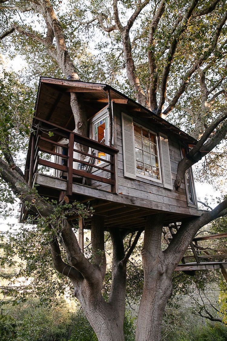 Baumhaus Holz Fensterl 228 Den Terrasse Ausblick Garden