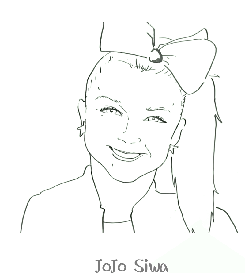 Coloring Pictures Jojo Siwa Portraits
