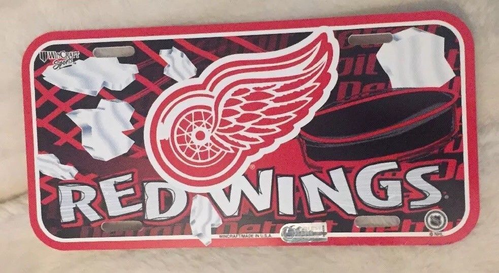 NHL Detroit Red Wings License Plate Wincraft 86934114