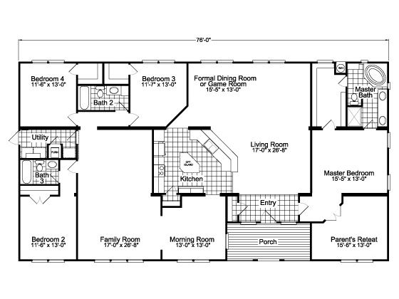 Floor Plan With Center-Of-The-Universe Kitchen Facing Living Room