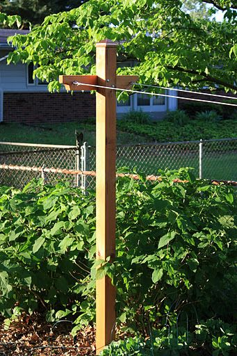 My custom clothesline pole - cedar and copper - does ...