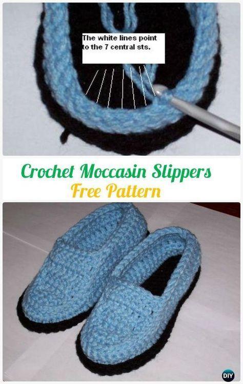 Crochet Men Slippers Shoes Free Patterns | Tejido y Zapatos