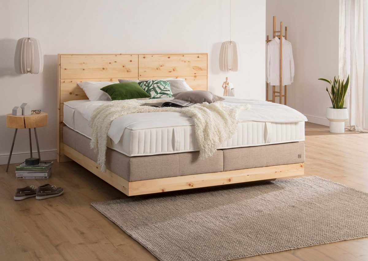 Sterreichischem Boxspringbett Schlafzimmer Zirbenholz Betten Chalet Alpen Holt Duft Aus Den Der Insbetten Box Spring Bed Bedroom Decor Home Decor