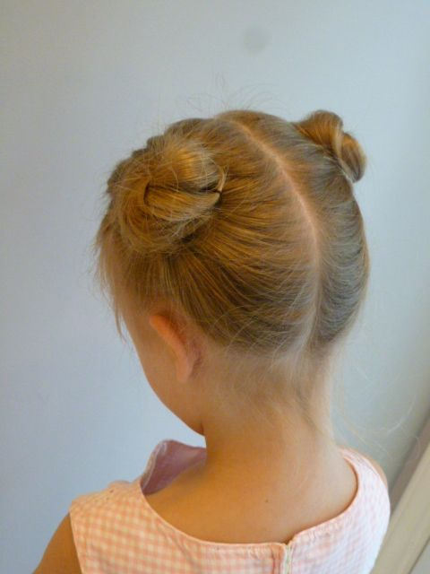 Teddy bear ear buns.