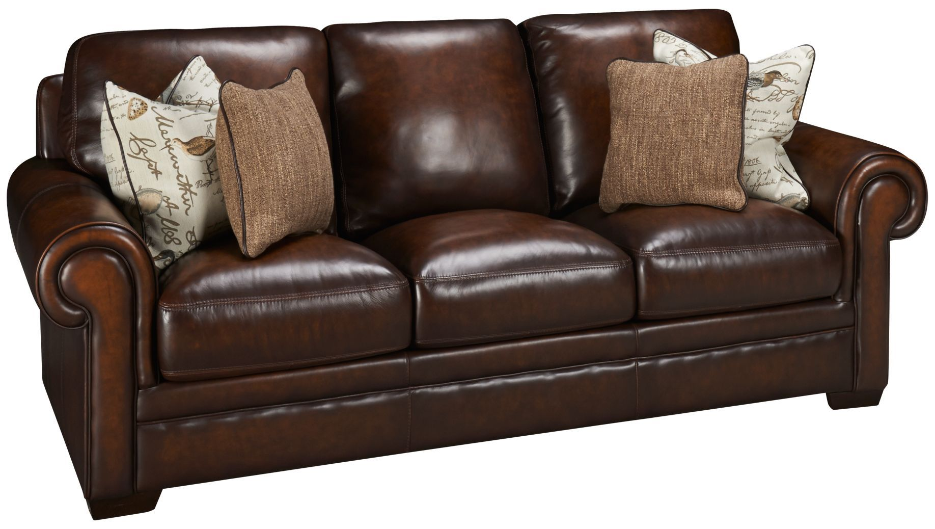 Simon Li Hillsboro Leather Sofa Leather Sofa Traditional Sofa Sofa