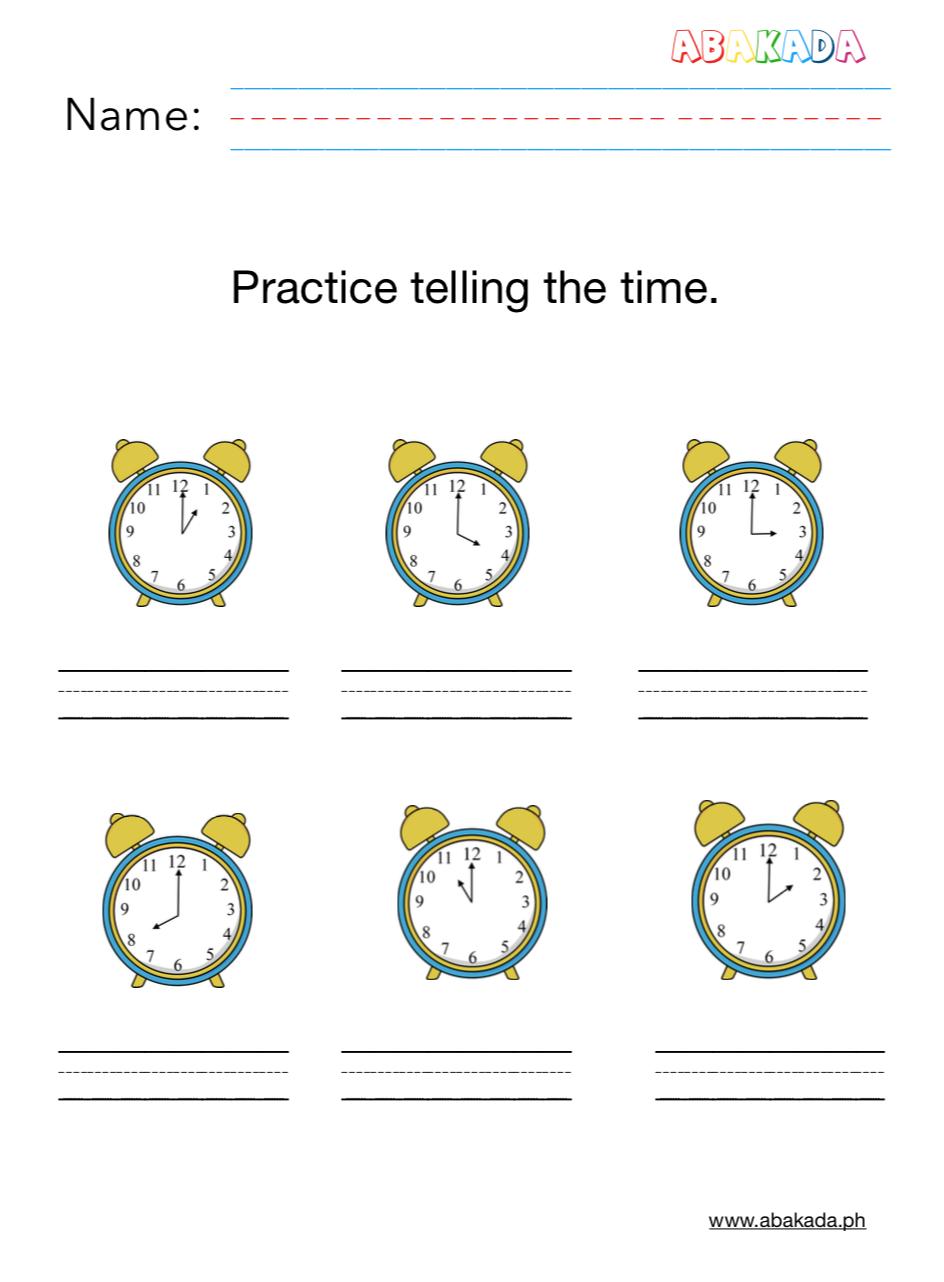 Practice Telling Time Preschool Worksheets Time Worksheets Science Worksheets [ 1282 x 944 Pixel ]