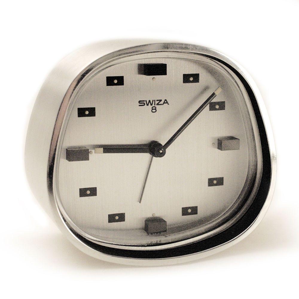 swiza wecker 1960s space design vintage alarm clock 8 swiss made selten http www. Black Bedroom Furniture Sets. Home Design Ideas