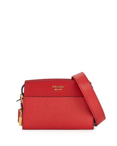 d3010475 PRADA Esplanade Saffiano Crossbody Bag, Dark Gray. #prada #bags ...
