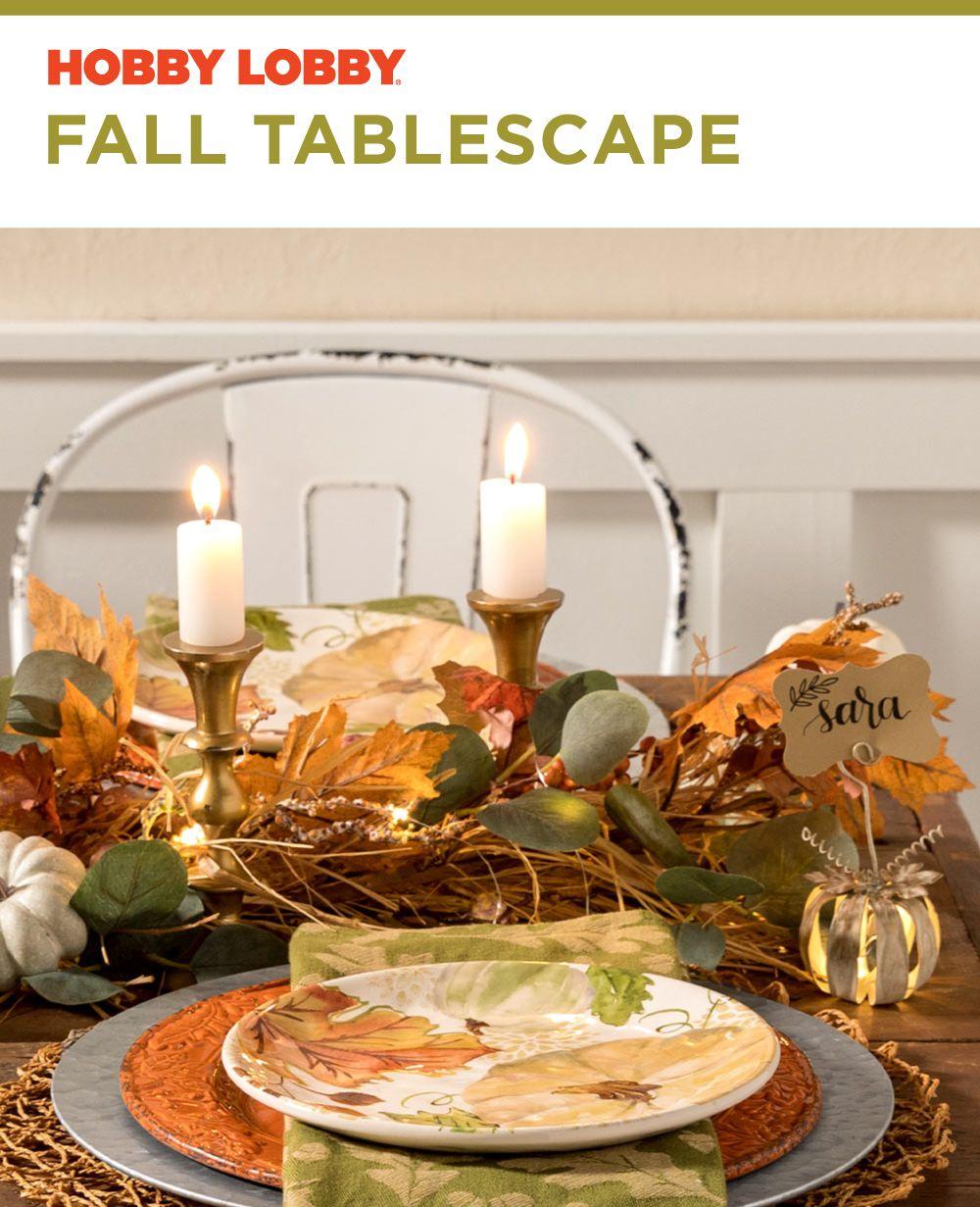 Fall Tablescape Fall Decor Hobby Lobby Fall Decor Fall Tablescapes