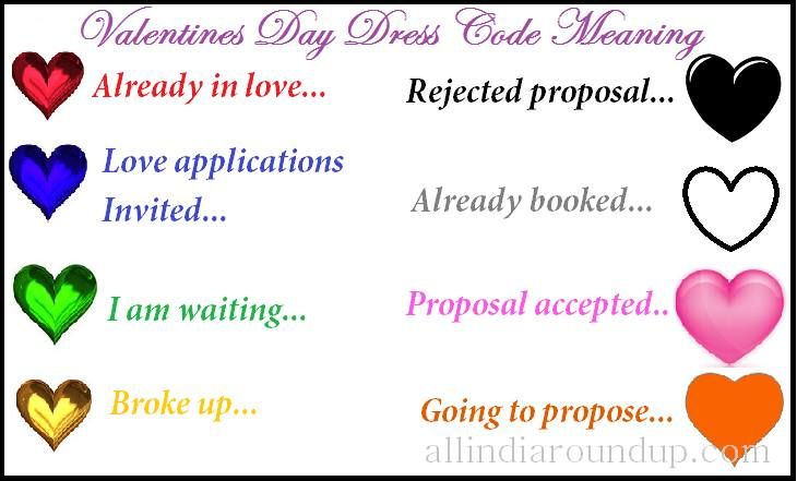 Valentine S Day Colour Code Color Meanings Valentines Day Dress Code Red Color Meaning
