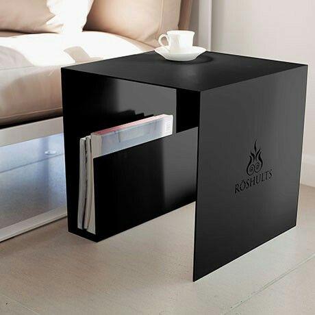 Mesa de noche arquitectura mobiliario en 2019 muebles for Muebles industriales metal baratos
