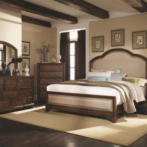 Attractive Fabric Headboard Bedroom Sets
