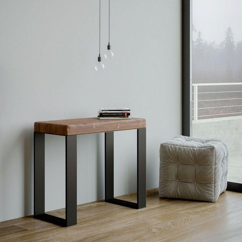 Moderner Ausziehbarer Konsolentisch Aus Massivholz Made In Italy Badesi Zimmereinrichtung Esszimmerkonsole Haus Deko