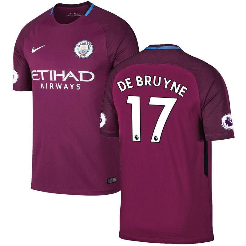 7a3129a54 Kevin De Bruyne Manchester City Nike 2017/18 Away Replica Jersey - Burgundy