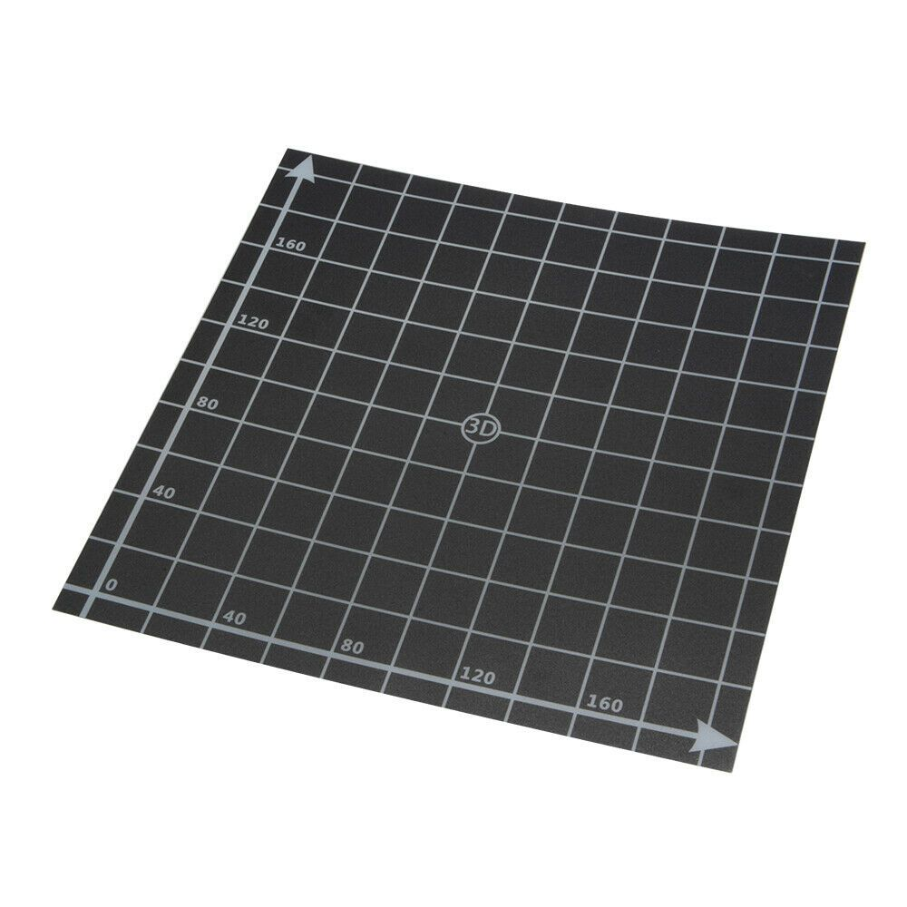 Black Square Build Surface Sticker Sheet with Coordinate for 3D Printer Hot Bed