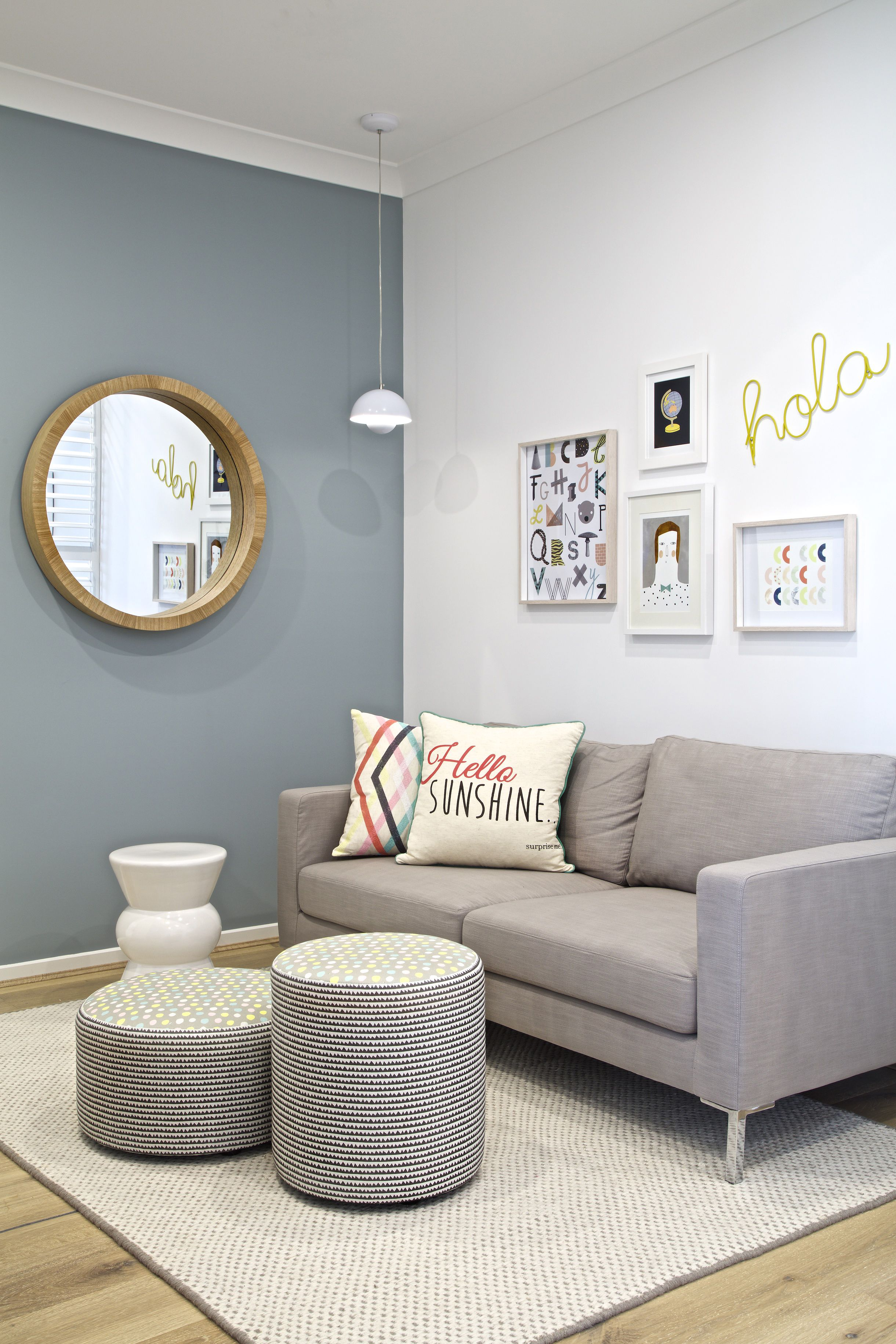 Living Room Feature Wall Decor: Clarendon Homes. Newhaven 27. Beautiful Lounge Area With