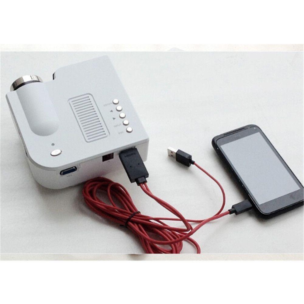 Portable mini Projector HD1080P Home Multimedia LED Mini Theater ...