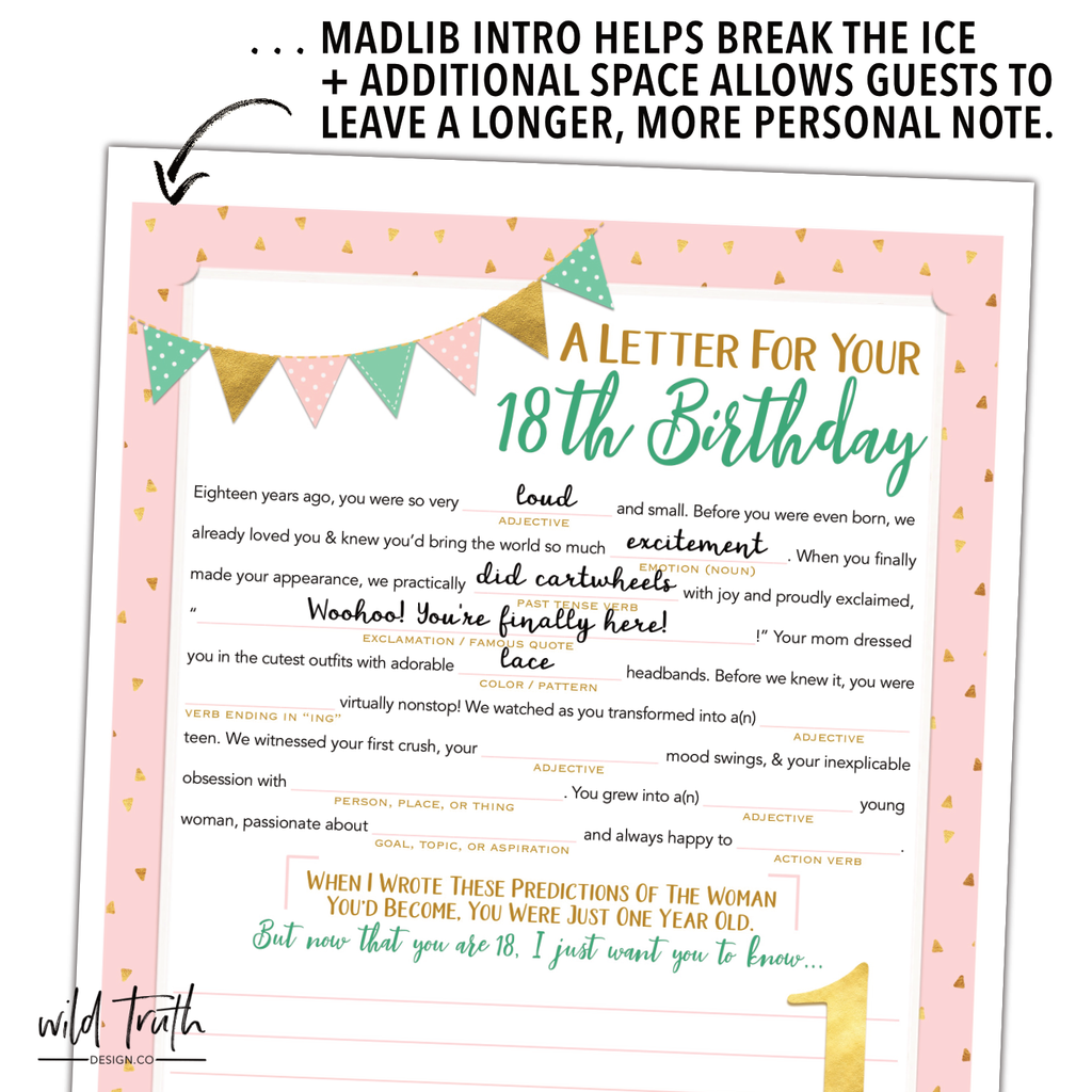 Girl S First Birthday Time Capsule Letter