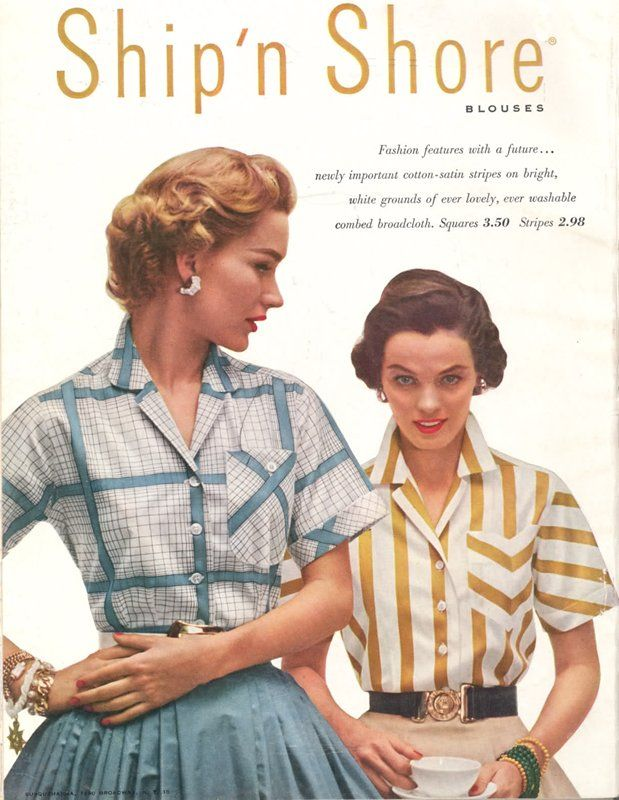 Vintage Ad For Ship N Shore Blouses All About My Style 50s