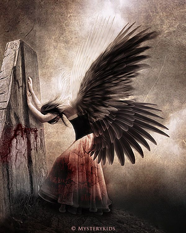 """""""The Fallen Angel"""" by Mysterykids. Mysterykids is a young Vietnamese artist who has specialized in Digital Art and more precisely manipulating photos into enchanted and magical fantasy scenes. You can view more of his work by clicking on the image and following him on deviantART."""