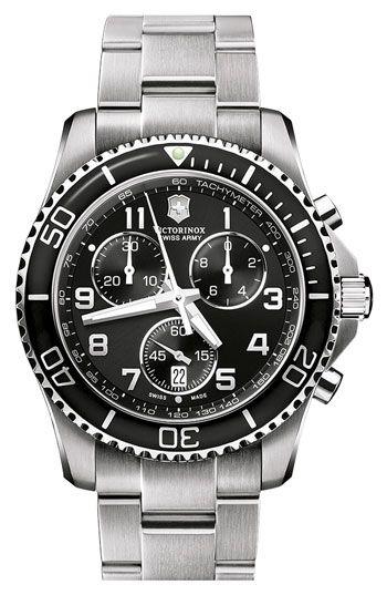 c1402e2cf Victorinox Swiss Army® 'Maverick GS' 241432 Stainless Steel Chronograph  Watch