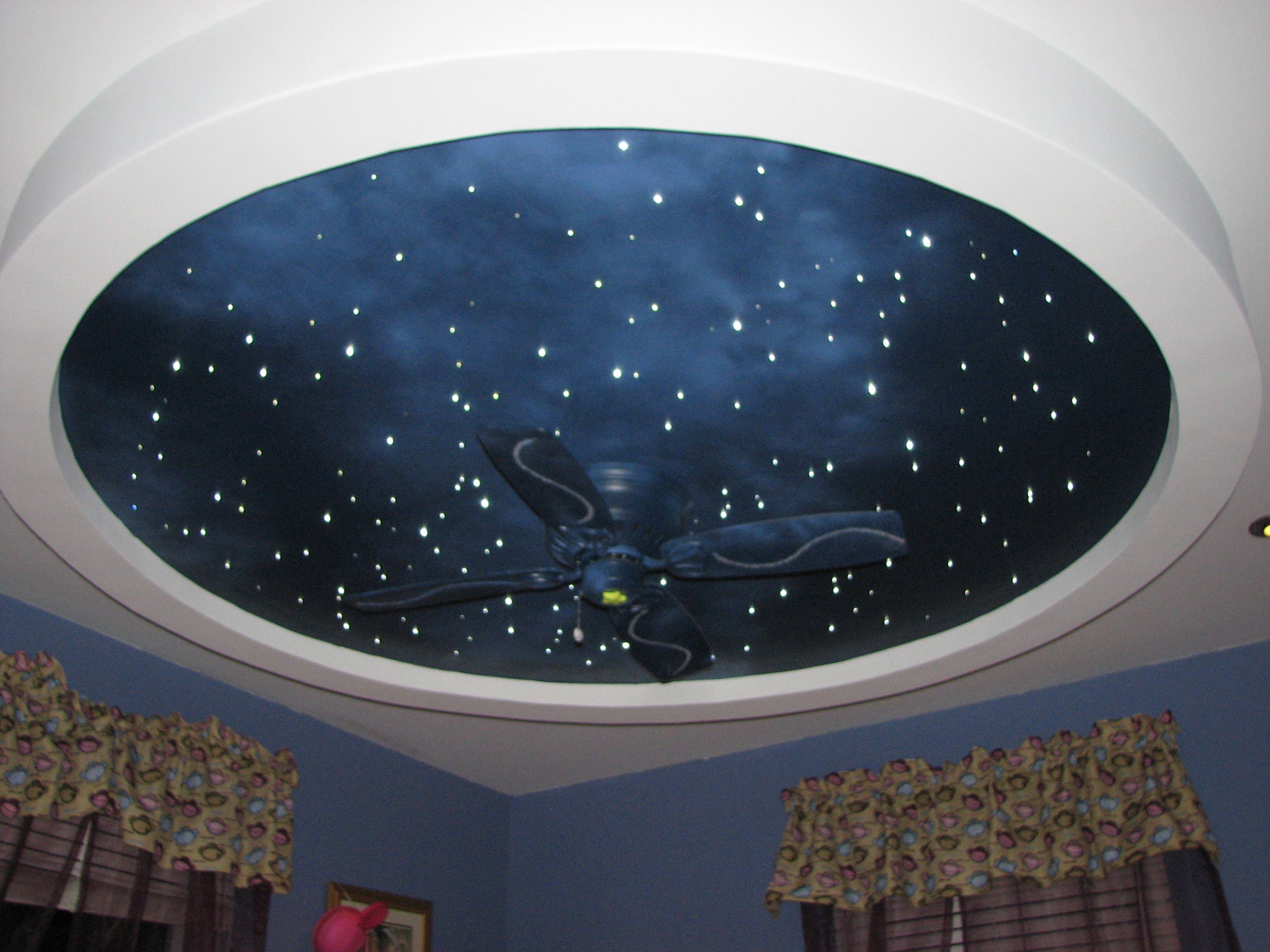 Fiber Optic Star Ceiling. Being a Trekkie, this would be a ...