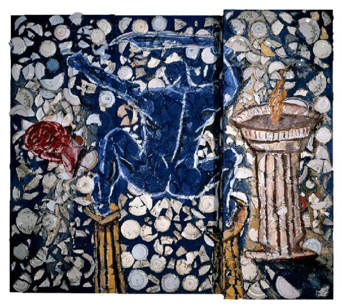Julian Schnabel » Blue Nude with Sword, 1979