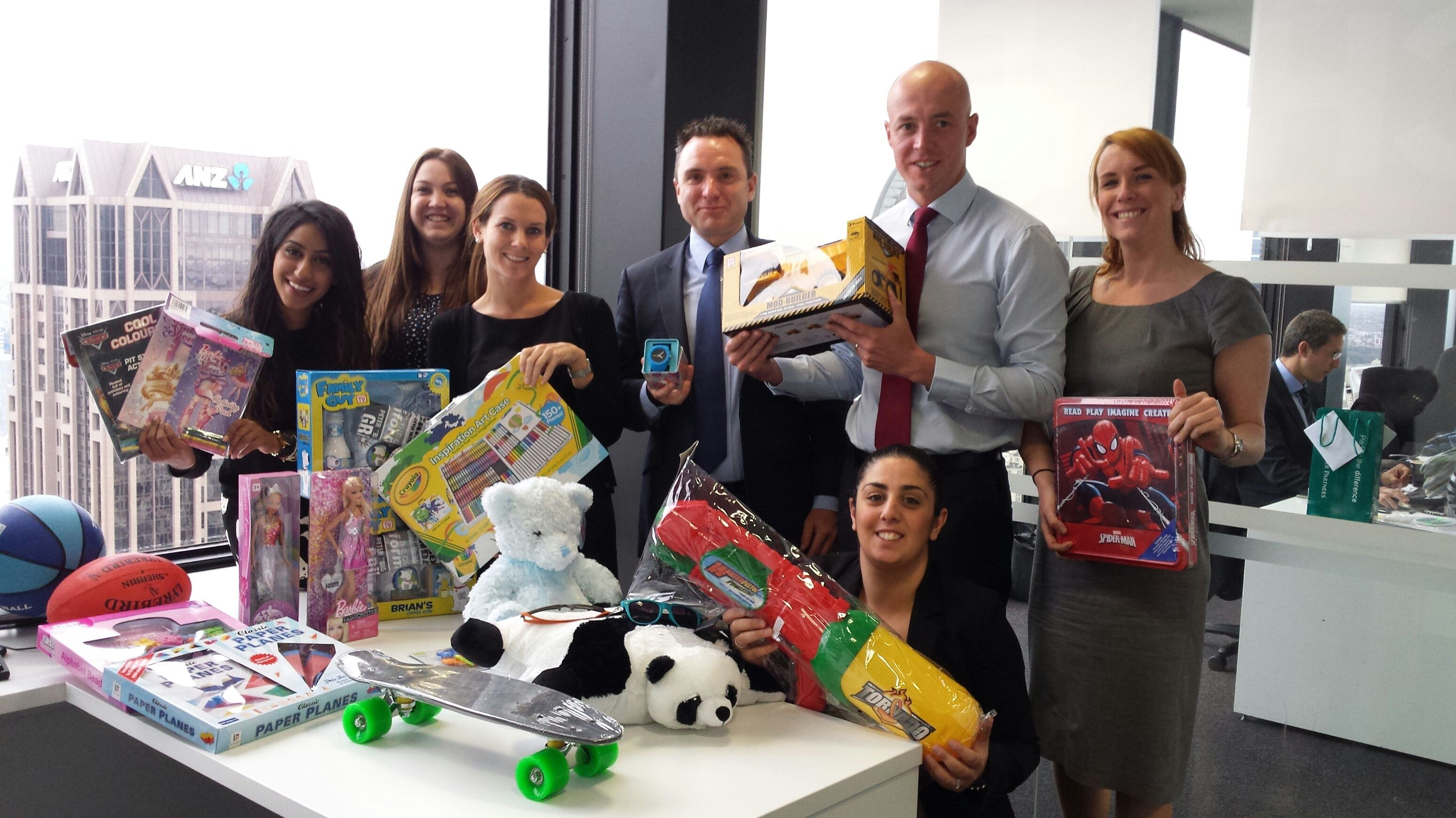 The results of our Toy Drive in Melbourne for the Berry