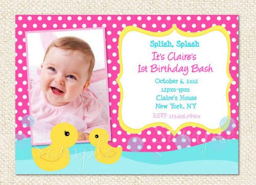 Rubber Duck Birthday Invitations Etsy