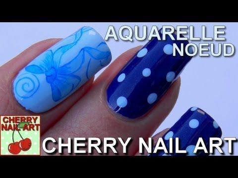 Aquarelle Nail Art Noeud Pois Au Vernis Cherry Nail Art Cherry