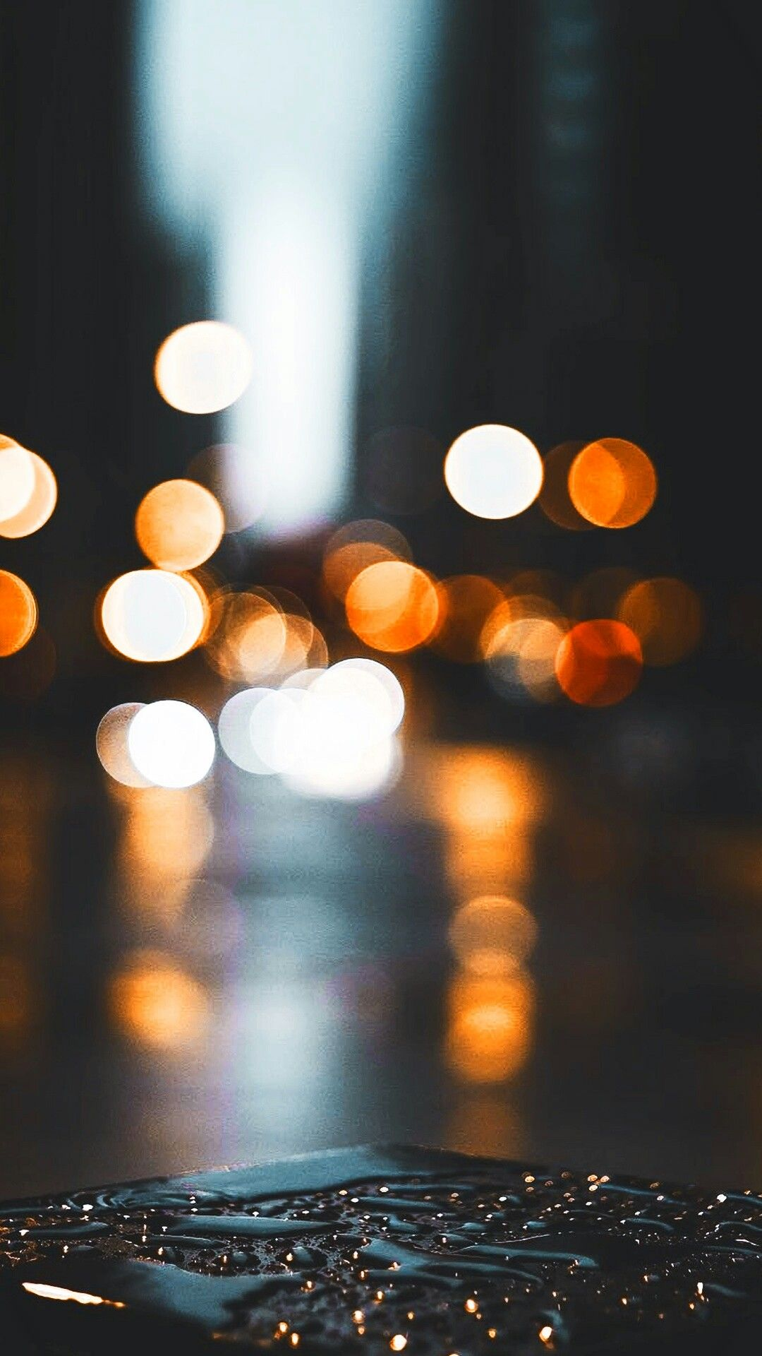 Bokeh In The City Shimmer Water Bokeh Photography City Lights Colors Color Reflection Bokehp Photography Wallpaper Tumblr Photography Rainy Wallpaper