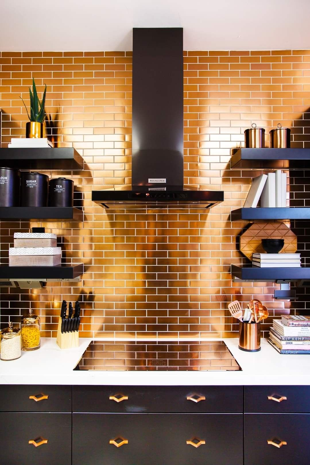 Tiffany Brooks Interiors Kitchen Tiles Design Copper Kitchen Backsplash Kitchen Remodel
