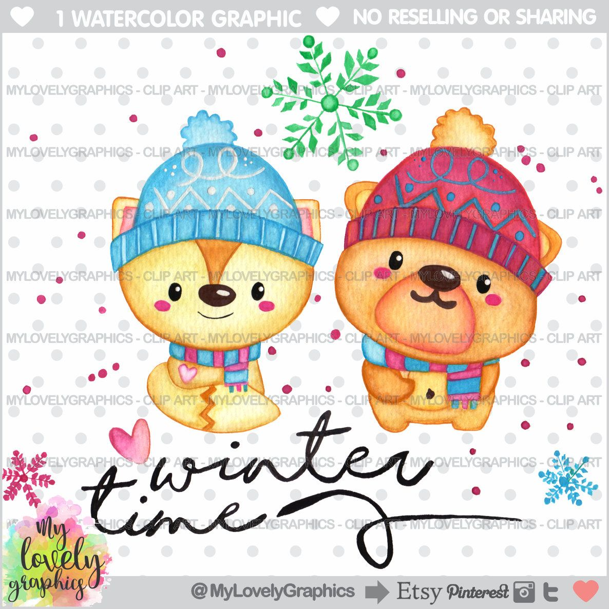 75 off winter clipart bear clipart christmas bear clipart winter watercolor commercial use winter time winter bears kawaii clipart [ 1186 x 1186 Pixel ]