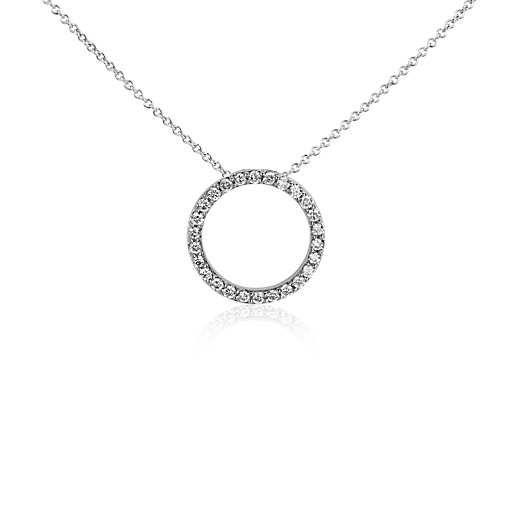 Open circle diamond pendant in 14k white gold 14 ct for me open circle diamond pendant in 14k white gold 14 ct aloadofball Choice Image