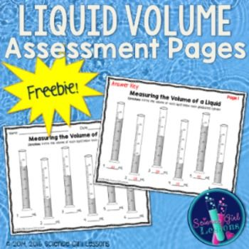 Graduated Cylinders Measuring The Volume Of A Liquid Freebie Free Science Lesson Graduated Cylinders Matter Science