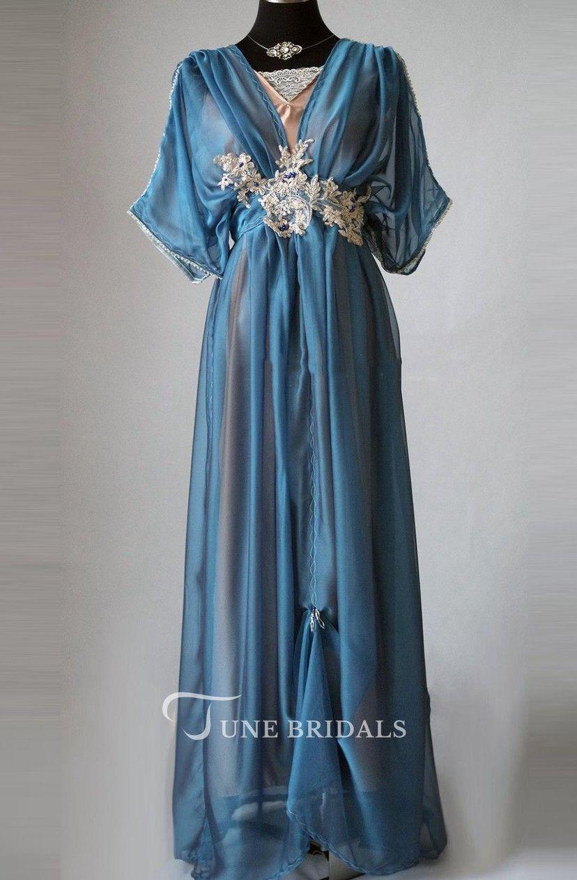Edwardian plus size blue handmade in england lady mary