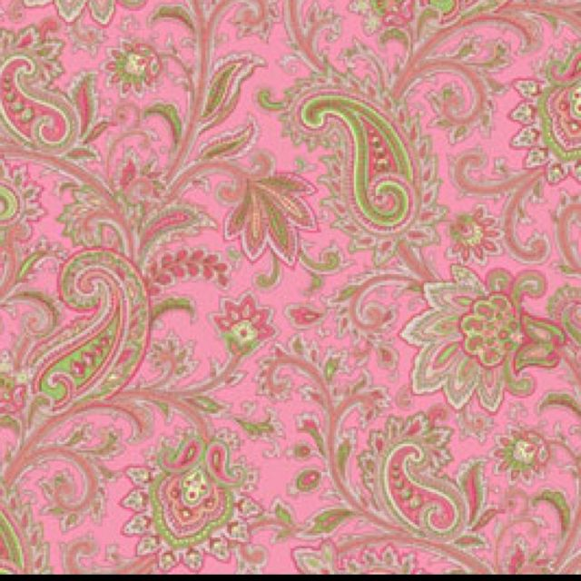 pink paisley wallpaper  Pink Paisley Wallpaper- love it! but only on a small accent wall ...