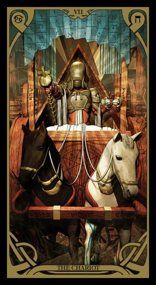 The Chariot - Night Sun Tarot | Tarot Art | Tarot, The