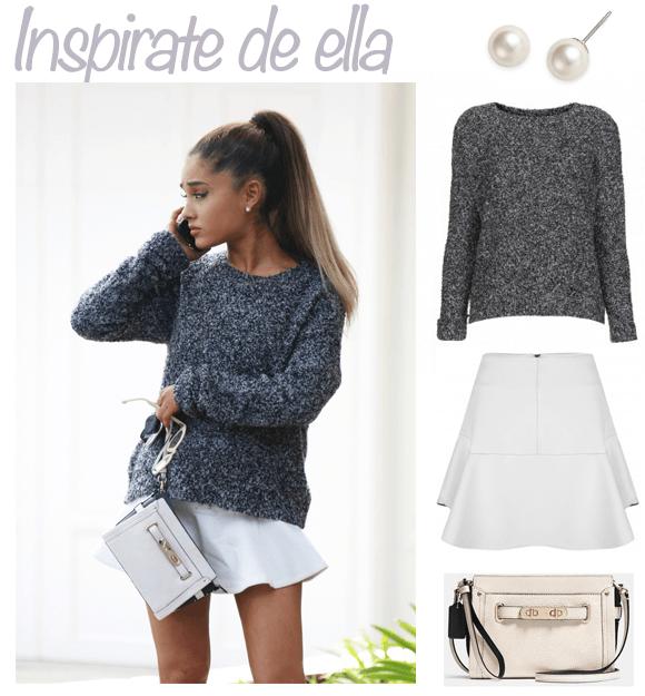 Ariana Falda Invierno Y Grande Extra Suéter Blanca Con 7qw7vSr