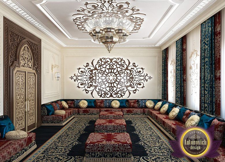 Arabic Style In The Interior Of Luxury Antonovich Design Katrina Antonovich Interior Arabic