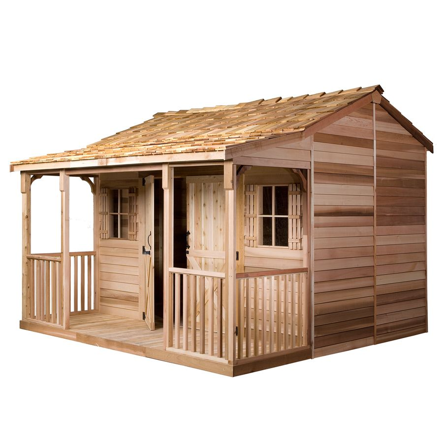 Cedarshed Common 16 Ft X 14 Ft Interior Dimensions 15 5 Ft X 9 5 Ft Ranchhouse Gable Cedar Wood Storage Shed Lowes Com Wood Storage Sheds Building A Shed Shed Storage