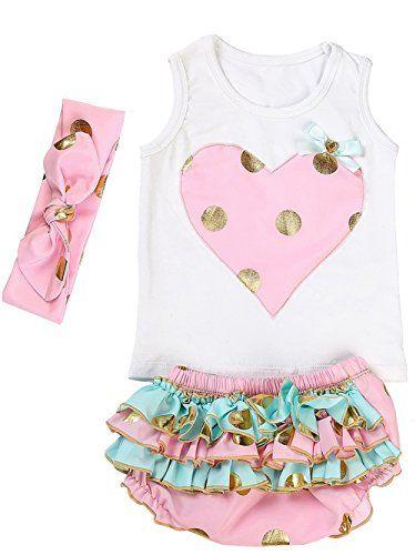 5b4959b4a9c Messy Code Lovely Design Posh Gold Polka Dots Baby Girls ... https