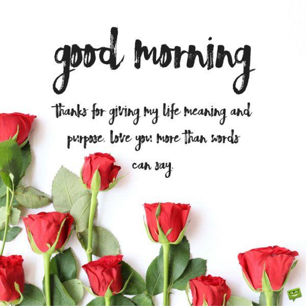 morning love words