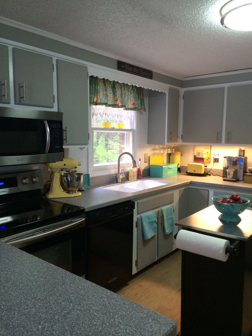 Painted my very plain kitchen cabinets! Easy with Dixie Belle ...