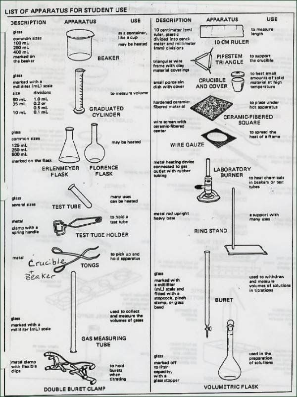 Lab Equipment Worksheet Answer Key Worksheet Lab Equipment