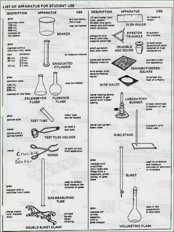 Lab Equipment Worksheet Answer Key Worksheet Lab Equipment