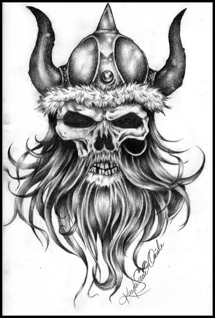 Viking skull design | Tattoo | Viking tattoos, Viking tattoo design