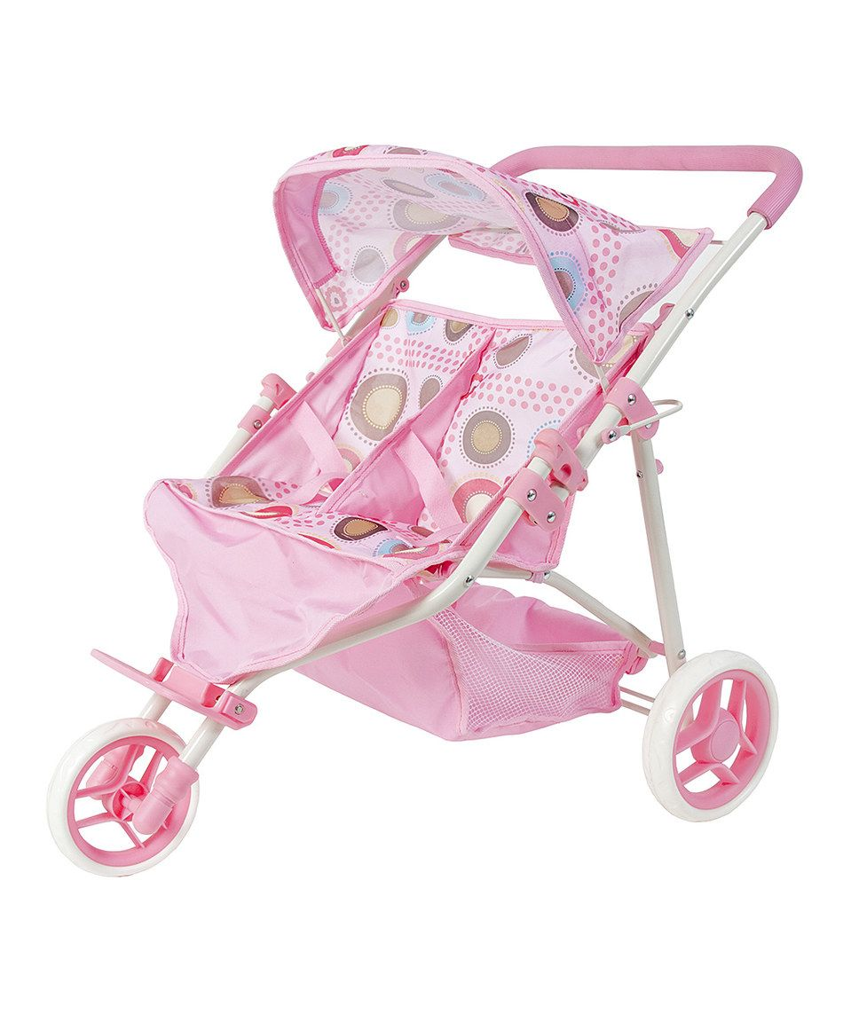 Look at this zulilyfind! Doll Double Stroller by Rosalina