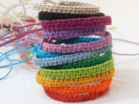 12 Square Knot Hemp Bracelets Bulk Buy by MrsCampbellsBoutique, $23.95